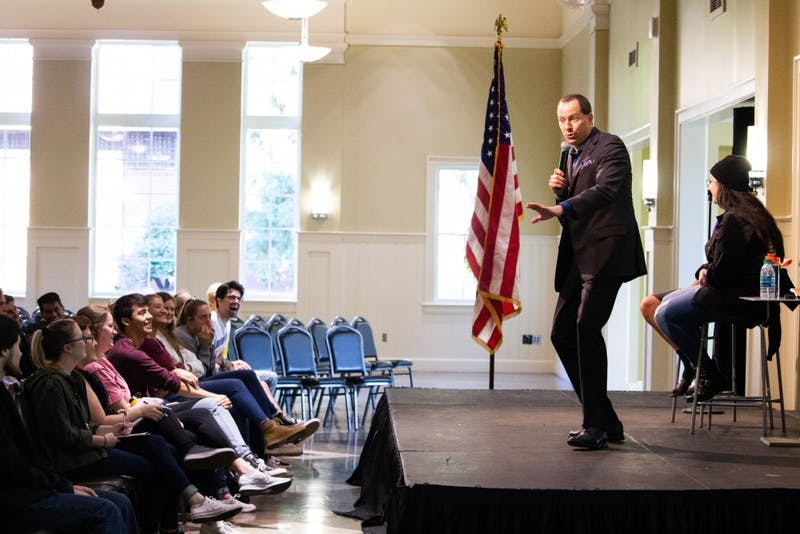 """Speaker Mike Domitrz came to UP to give a talk titled """"Can I Kiss You?"""" In the show he explained how to ask for and give consent, as well as the different dynamics within healthy and unhealthy sexual situations."""