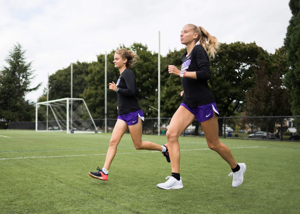 Virag Weiler and Anna Pataki both run for UP's cross country and track teams. They met and became friends while running for the same club in Hungary and sometimes competing against each other.