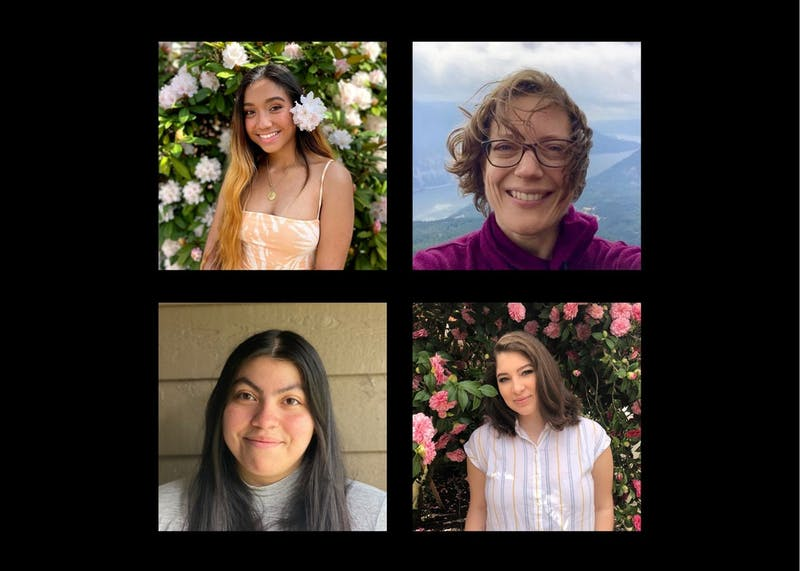 Clockwise from top left: Alex Gonzalez, Susan Murray, Dulce Sanabria Garcia and Hailey Rosario conducted research as part of the Public Research Fellowship program. Photos courtesy of Alex Gonzalez, Susan Murray, Dulce Sanabria Garcia and Hailey Rosario, respectively.