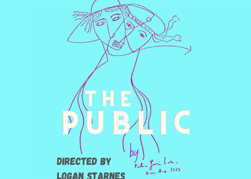 "Poster for ""The Public"" set to run on March 12th and 13th courtesy of Theater at UP.Screen Capture by Andrew Gotshall"