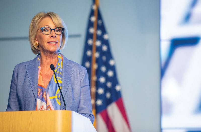 UP and other schools have had to make Title IX adjustments due to new rules regarding sexual harassment and sexual assault issued by Betsy DeVos, U.S. Education Secretary.Photo: AFCEA.org