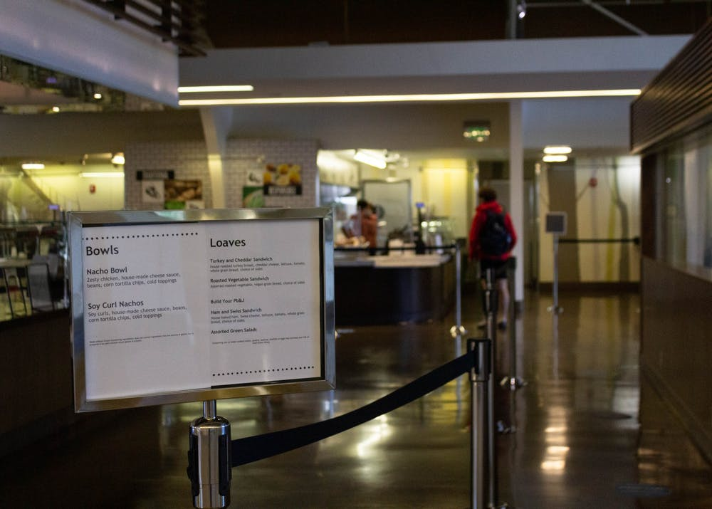 The Commons, once filled with students and employees, has been running under limited operations since the switch to online learning.