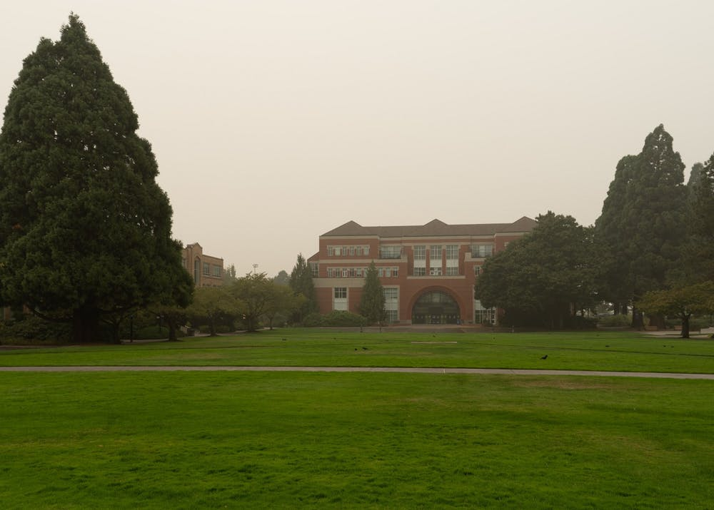 The smoke surrounding Franz Hall and all of campus should clear out on Friday.