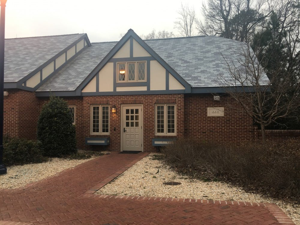 <p>The Delta Delta Delta sorority cottage, where several sorority members were when an unknown man asked for help.&nbsp;</p>