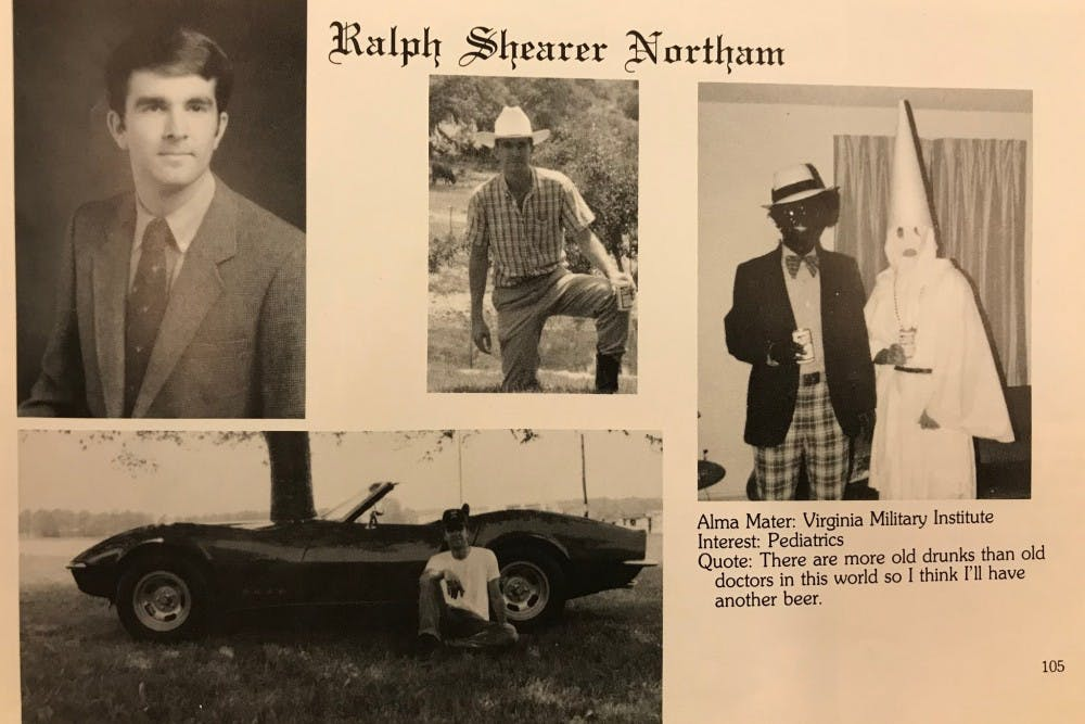 <p>Virginia Gov. Ralph Northam 1984 medical school yearbook page.&nbsp;</p>