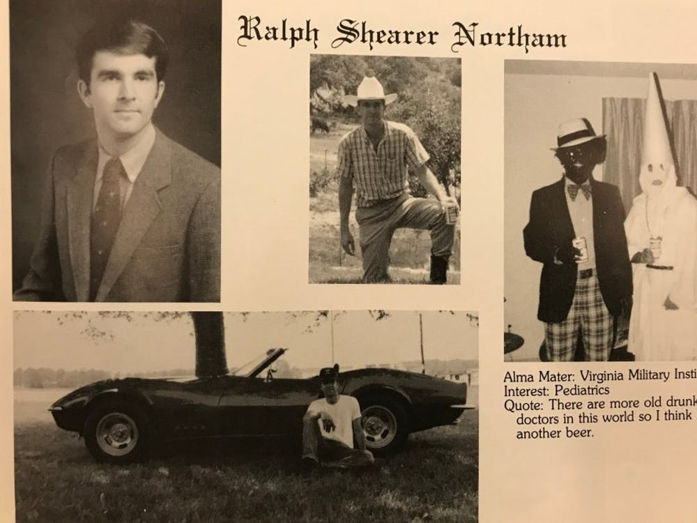 Virginia Gov. Ralph Northam 1984 medical school yearbook page.