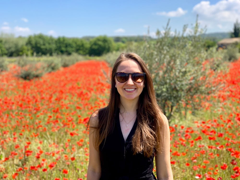 Senior Claire Griffiths pictured in France, 10 minutes from her home in Geneva, Switzerland.
