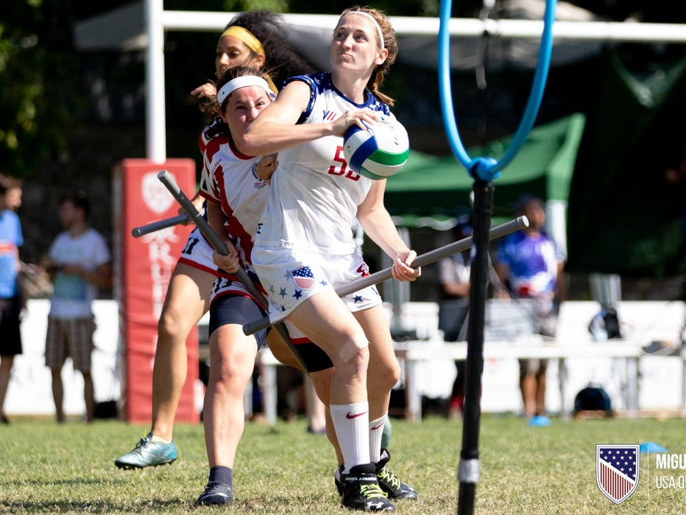 2015 University of Richmond alumna Julia Baer plays on the U.S. Quidditch national team. Photo courtesy of Julia Baer