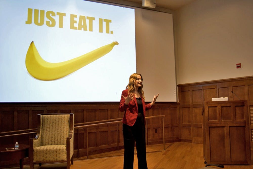 <p>Junior Alex Carroll shared her experience with an eating disorder during a talk on Friday, Oct. 19. in Ukrop Auditorium.&nbsp;</p>