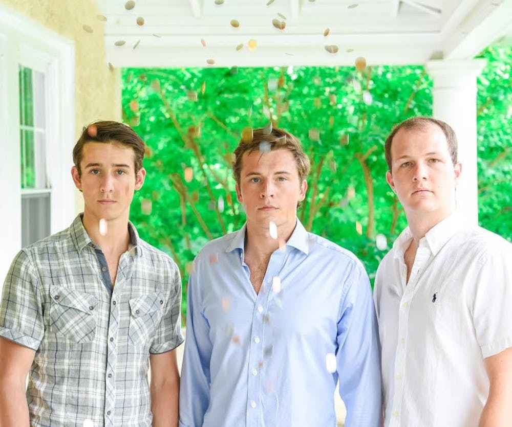 <p>GiveTide founders&nbsp;(from left):&nbsp;James Ghiorse, Pete Ghiorse, RC '16, and Peter Tight, RC '16.</p>