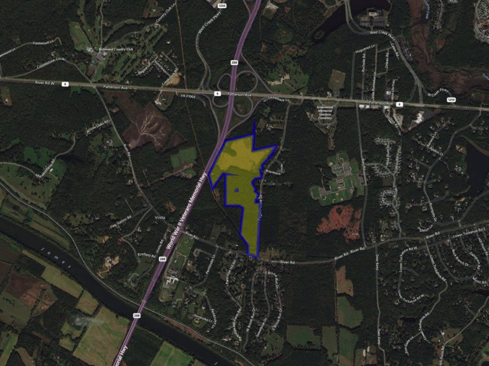 A map of the surrounding area near the Pagebrook Property, which is highlighted in yellow.