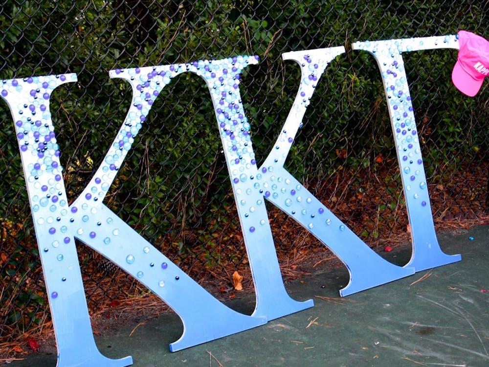 Photos from Kappa Kappa Gamma's 'Kappa Kourtside' doubles tennis tournament. Photos by Taylor Katzovitz