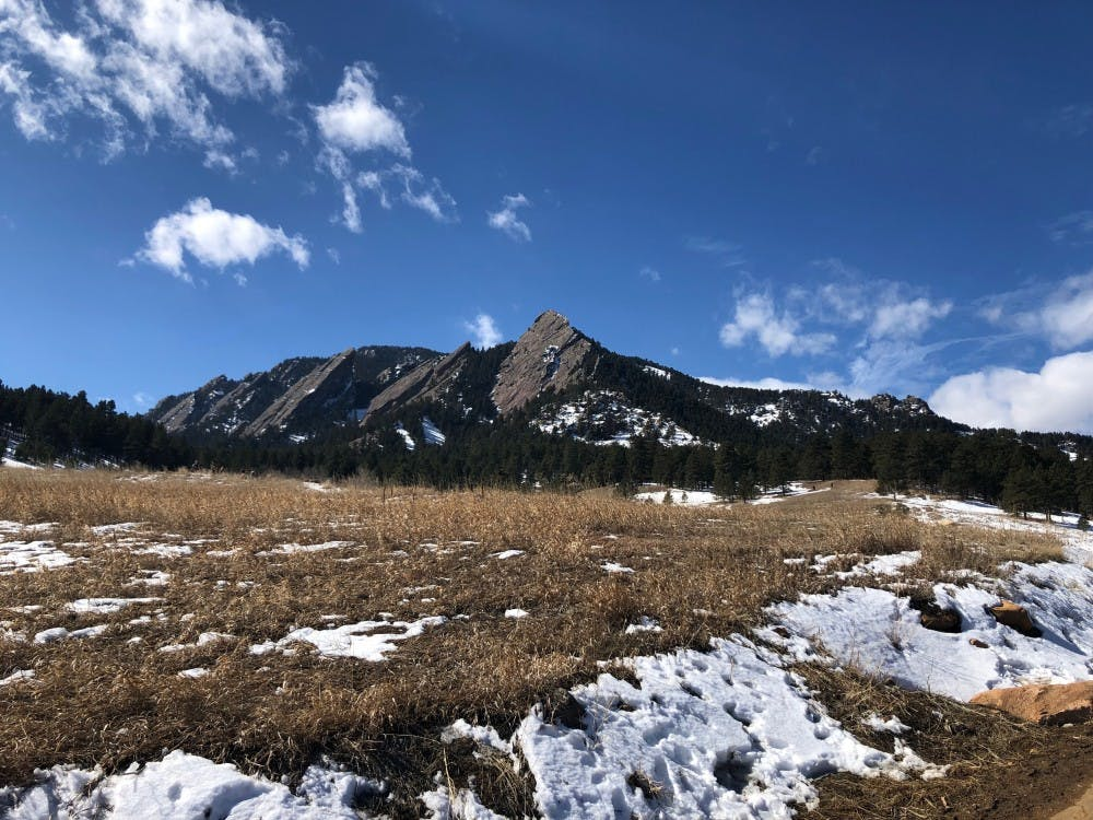Outdoor Club member Jessi Alt photographs Flagstaff Mountain in Boulder, Colorado, on her own outdoor adventure.