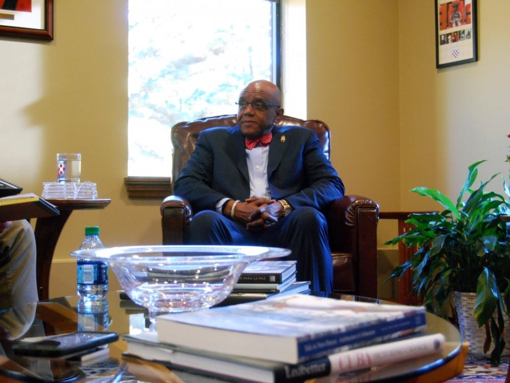 President Ronald A. Crutcher in his office in Maryland Hall.