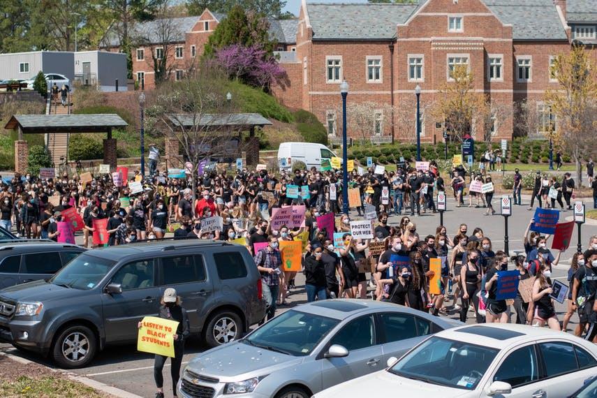 BSC Protest crowd