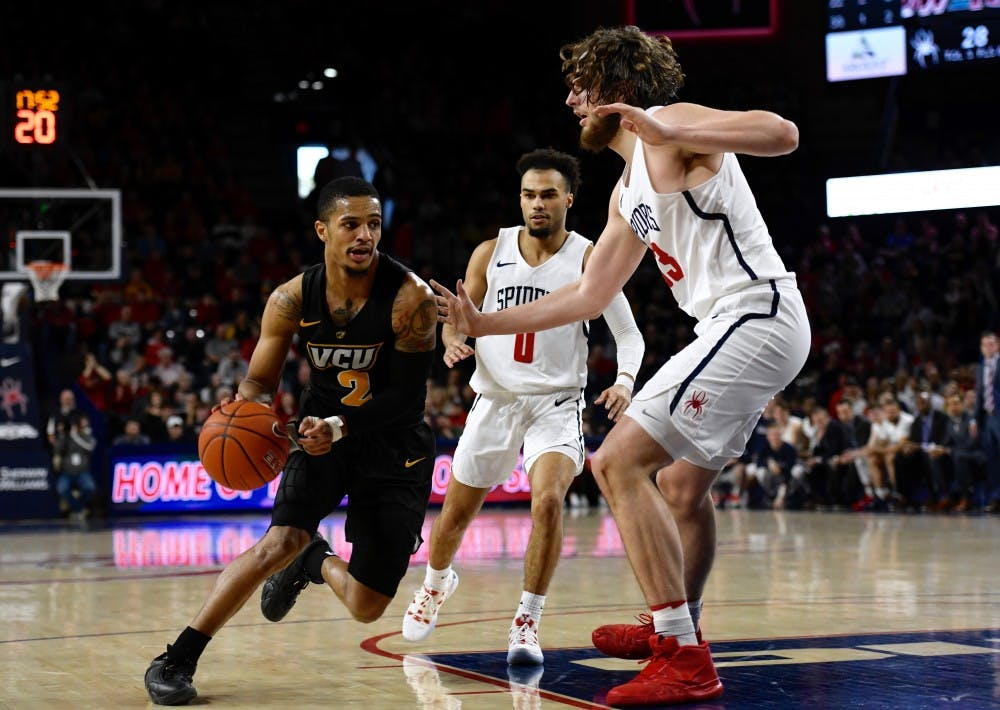 "<p>Men's basketball <a href=""https://www.thecollegianur.com/article/2019/03/vcu-defeats-mens-basketball-again-in-home-rematch-69-66"" target=""_blank"">lost to rival VCU</a> earlier this month at the Robins Center.&nbsp;</p>"