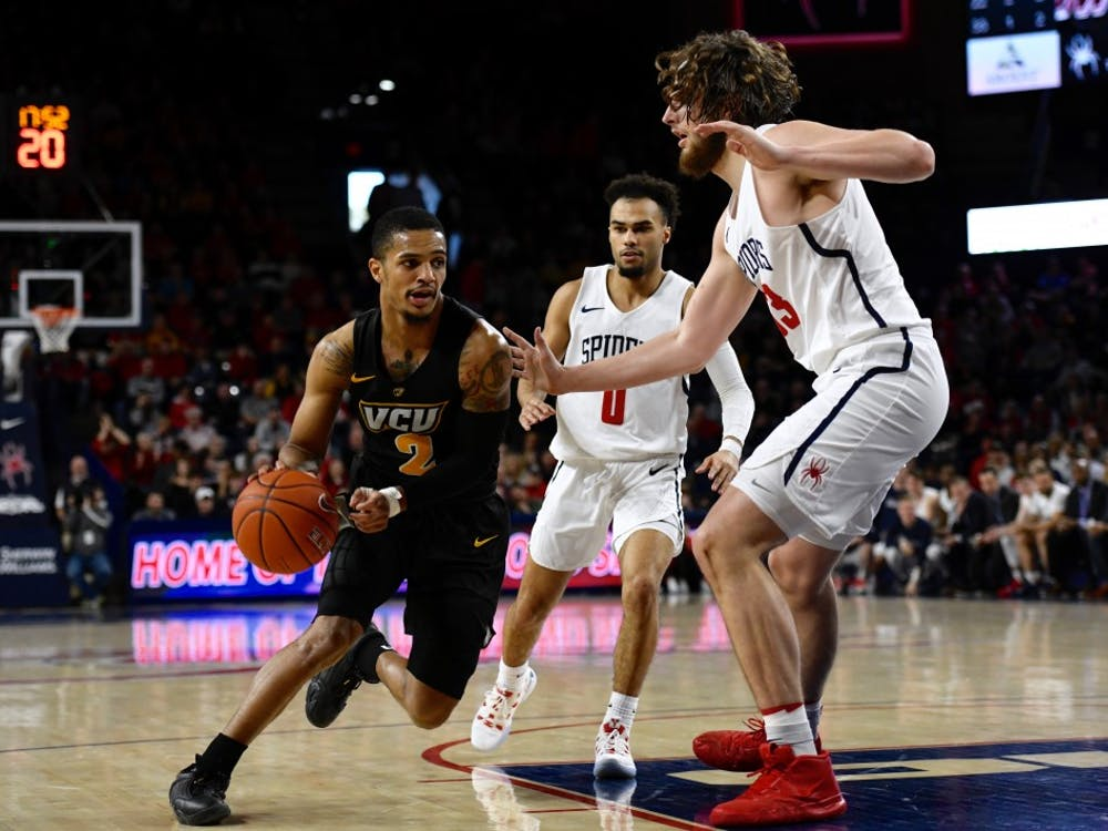 Men's basketball lost to rival VCU earlier this month at the Robins Center.