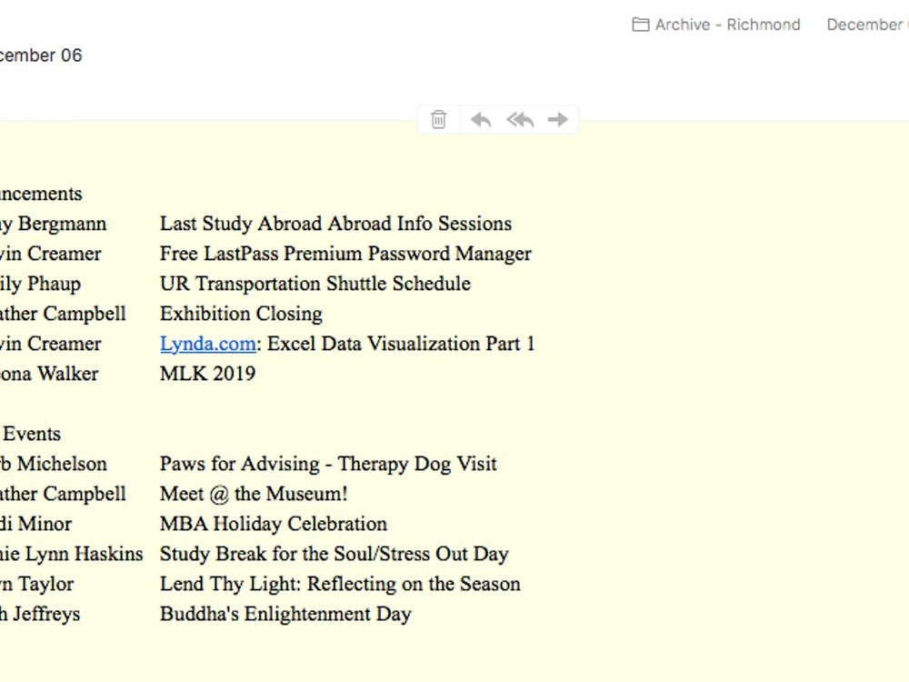 A screenshot of the Dec. 6 edition of the re-introduced SpiderBytes daily email.