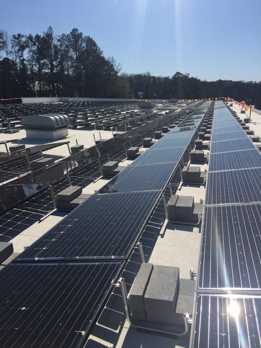 Weinstein Center Solar Panel Installation The Collegian