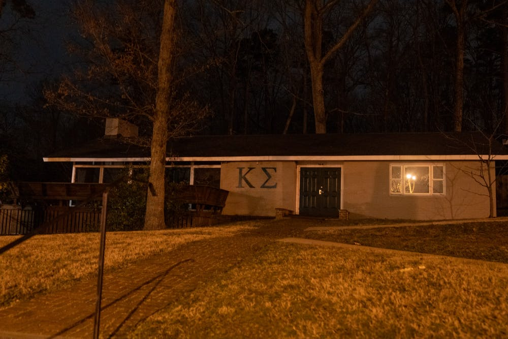 <p>The lodge for the Kappa Sigma fraternity.</p>
