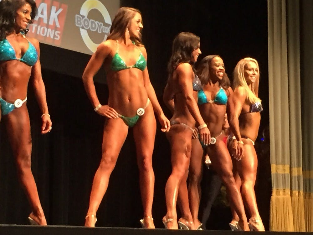 Tabby was relieved when the judges asked her to move to the center of the line in the open bikini class, she said.