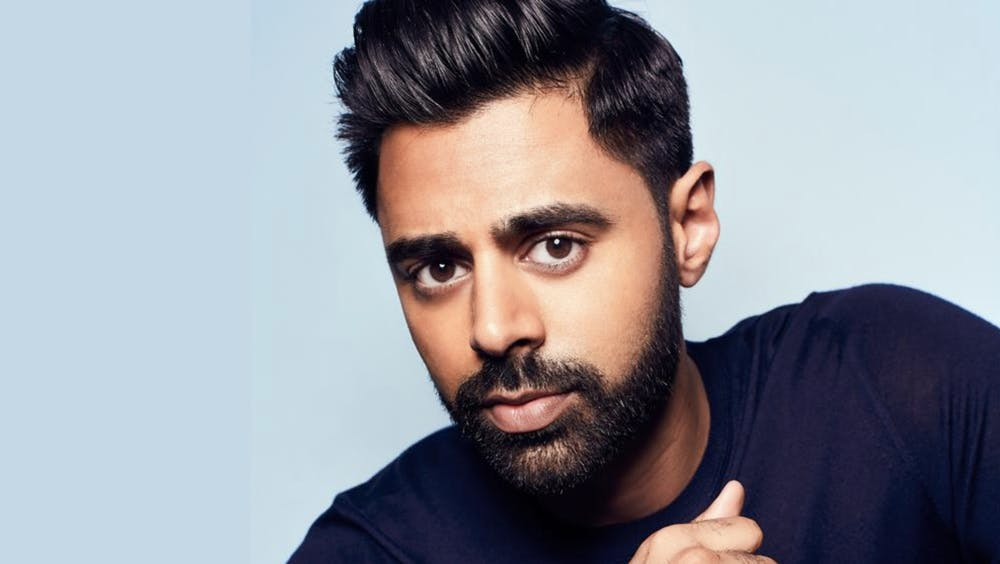 <p>Comedian and political commentator Hasan Minhaj spoke with UR community members during an online event. <em>Courtesy of the Modlin Center for the Arts</em></p>