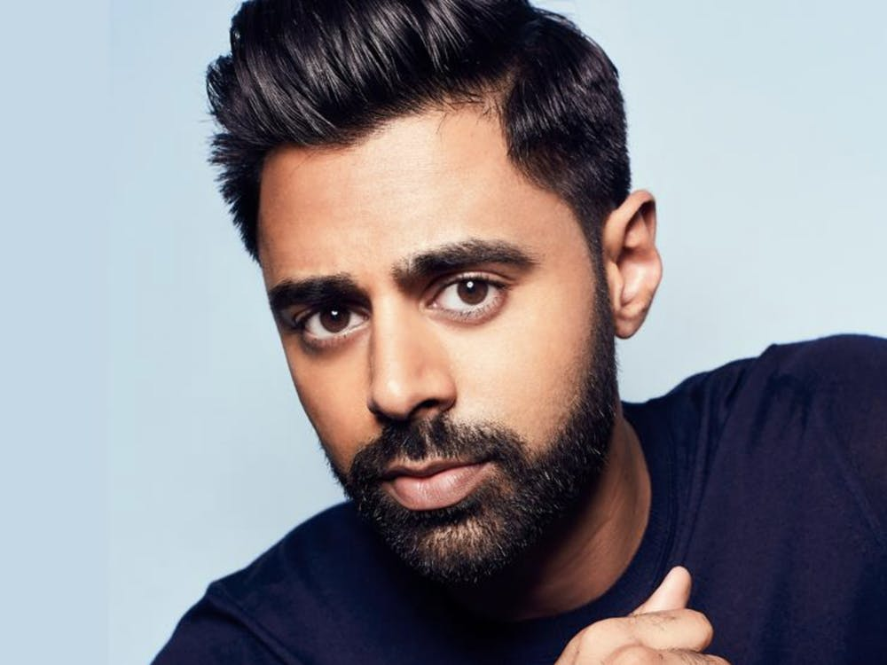 Comedian and political commentator Hasan Minhaj spoke with UR community members during an online event. Courtesy of the Modlin Center for the Arts