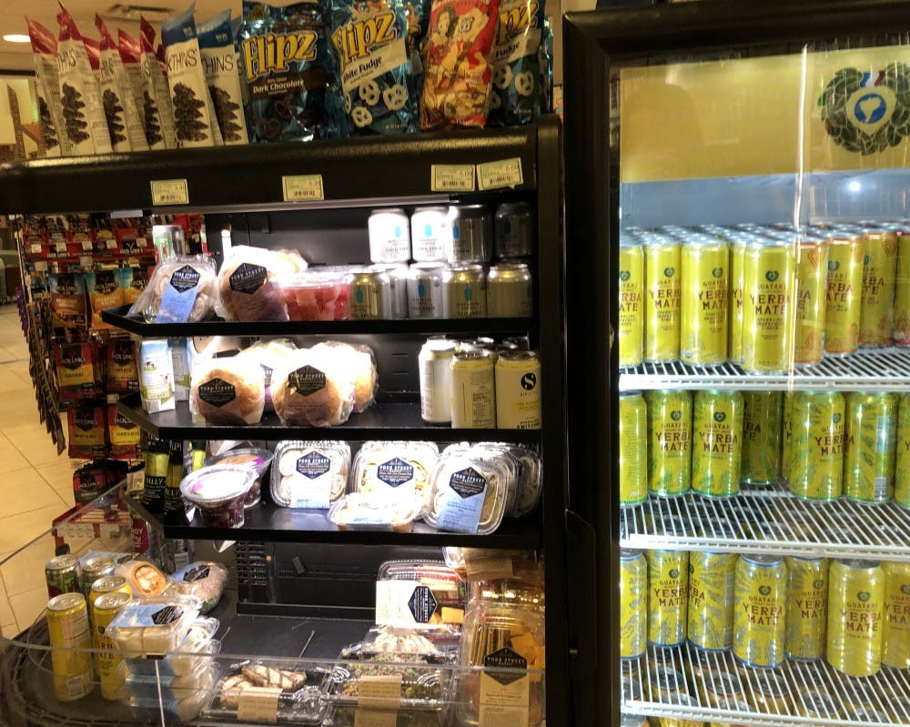 <p>The grab-and-go refrigerator at ETC, which is typically stocked with sushi products.&nbsp;</p>