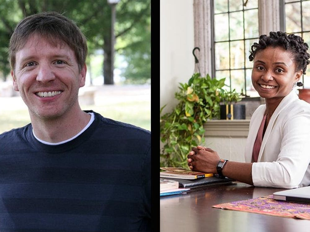 Jory Brinkerhoff (left) and Manuella Meyer were awarded Fulbright Scholar grants for theirresearch proposals. Image courtesy of Sunny Lim