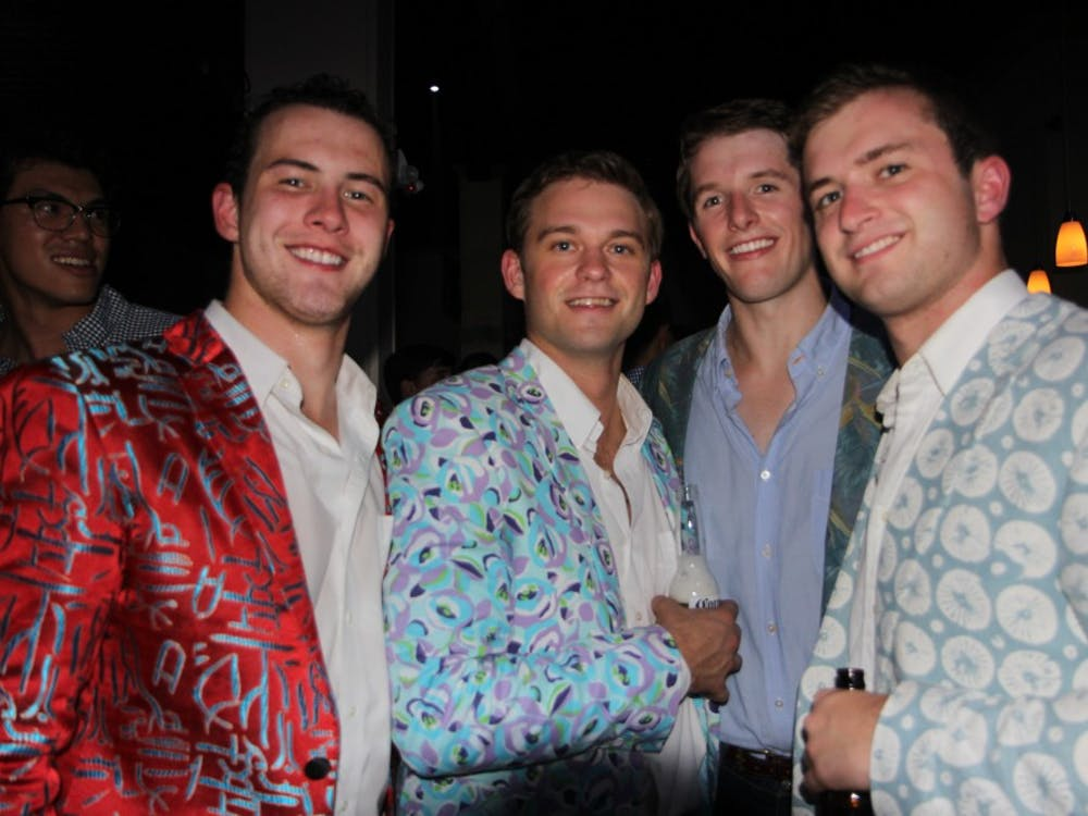 Rob Costanzo, Pat Giampietro, Andrew Kimball andNick Lawler (from left)in Element Threads jackets.