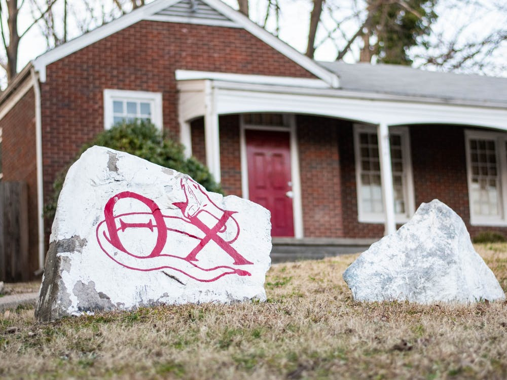 The Theta Chi lodge on Old Fraternity Row.