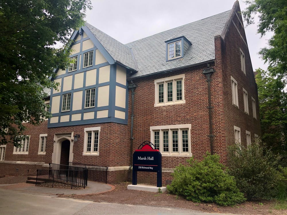 <p>Marsh Hall, a first-year residence hall, received new contactless card readers.</p>