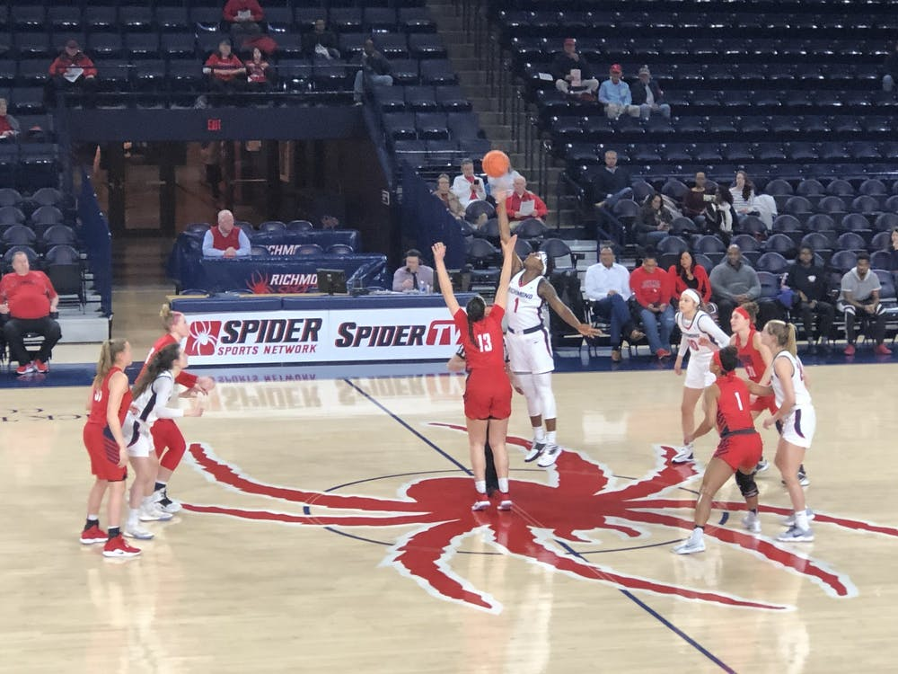 <p>The University of Richmond women's basketball team plays against the Duquesne Dukes on Wednesday, Feb. 12</p>