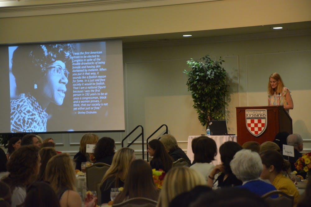 <p>Current Westhampton students and successful alumni gather for a Women in Leadership Conference. Photo byYashvardhan Jhunjhunwala.</p>