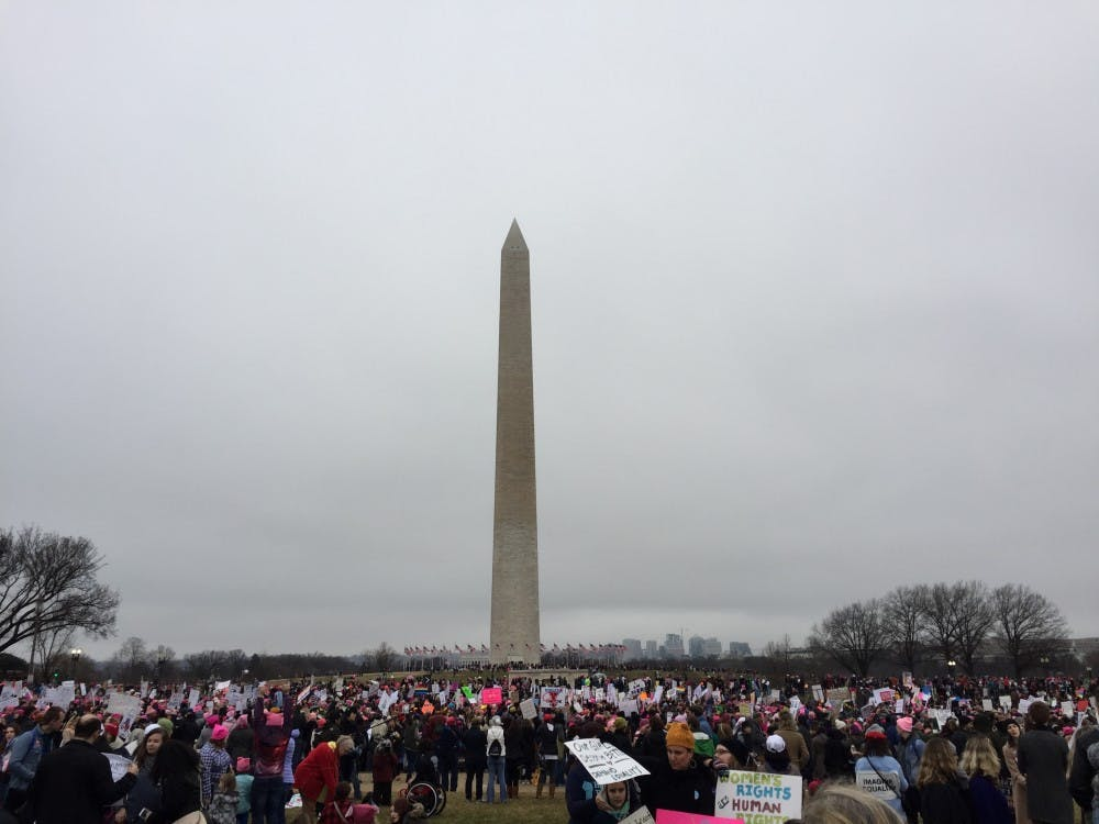 Marchers spread out across the heart of Washington, D.C., from the Capitol to the Washington Monument and the White House.