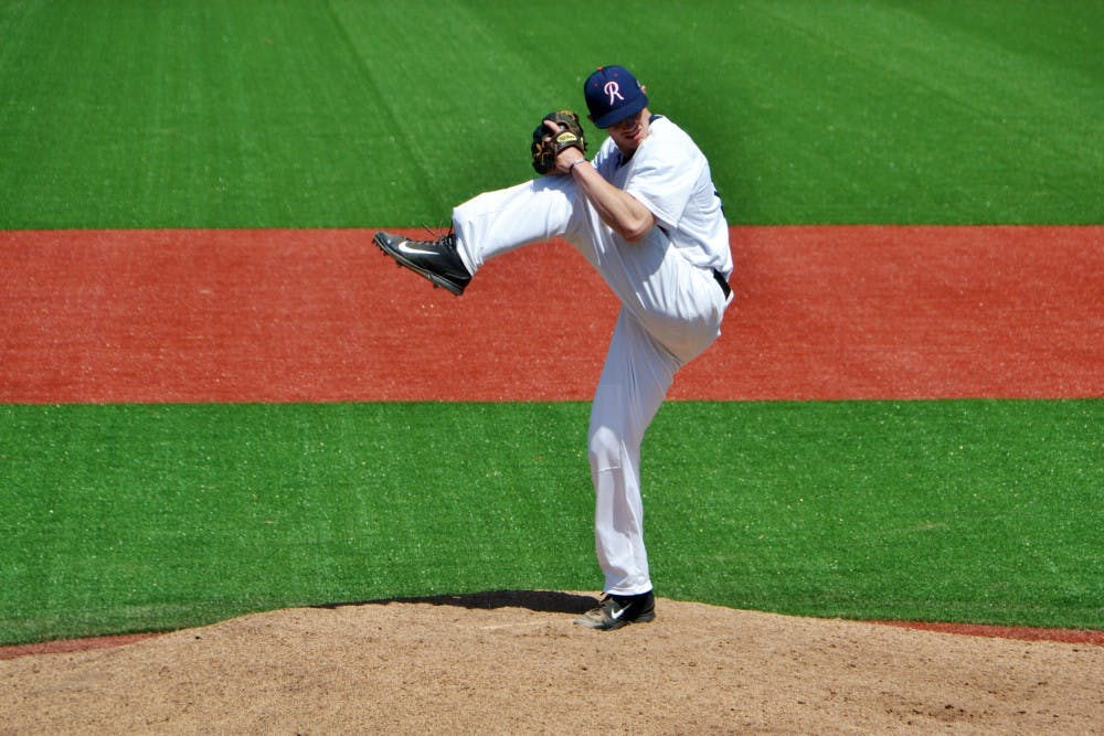<p>Senior Ray Harron earned his fourth save of the season in the first game of the series, but gave up the game-winning run on Sunday.</p>