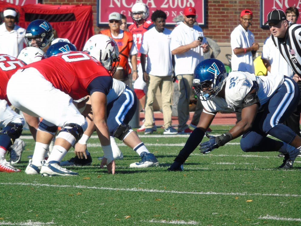 The University of Richmond football team lost to Villanova 45-21 Saturday afternoon in its homecoming game.