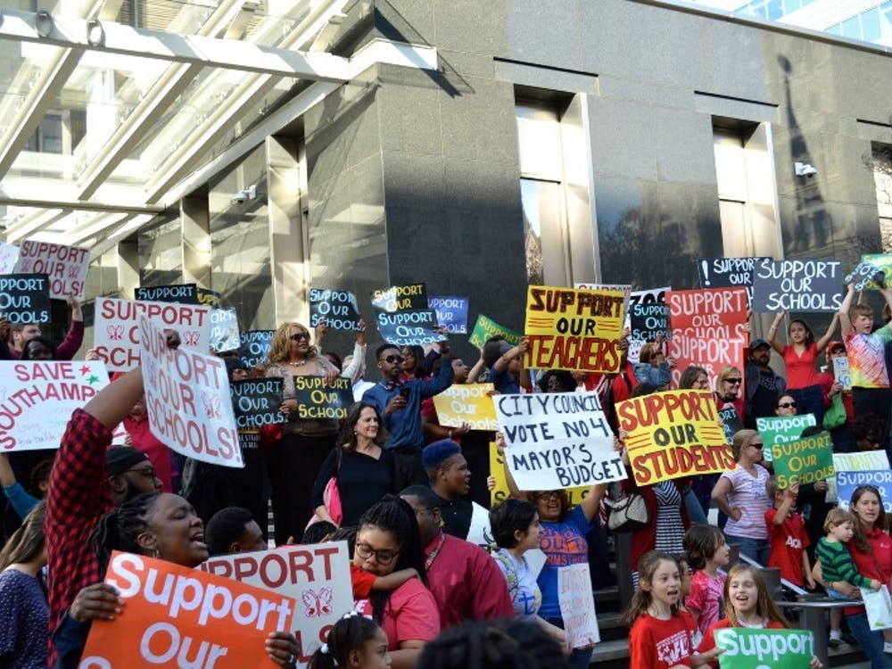 Hundreds of people rallied in front of Richmond City Hall to advocate for more funding for Richmond Public Schools.