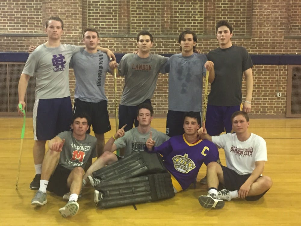 The Kings posed together afterthey beat Sigma Chi in the championship game Thursday night.