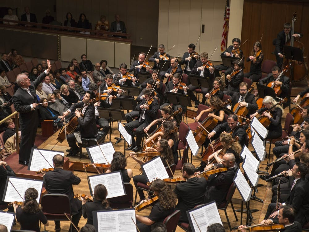 The West-Eastern Divan Orchestra plays at at a Washington D.C. concert hall during its tour of the United States. Photo courtesy of Manuel Vaca for the West-Eastern Divan Orchestra 2018 U.S. tour press kit.