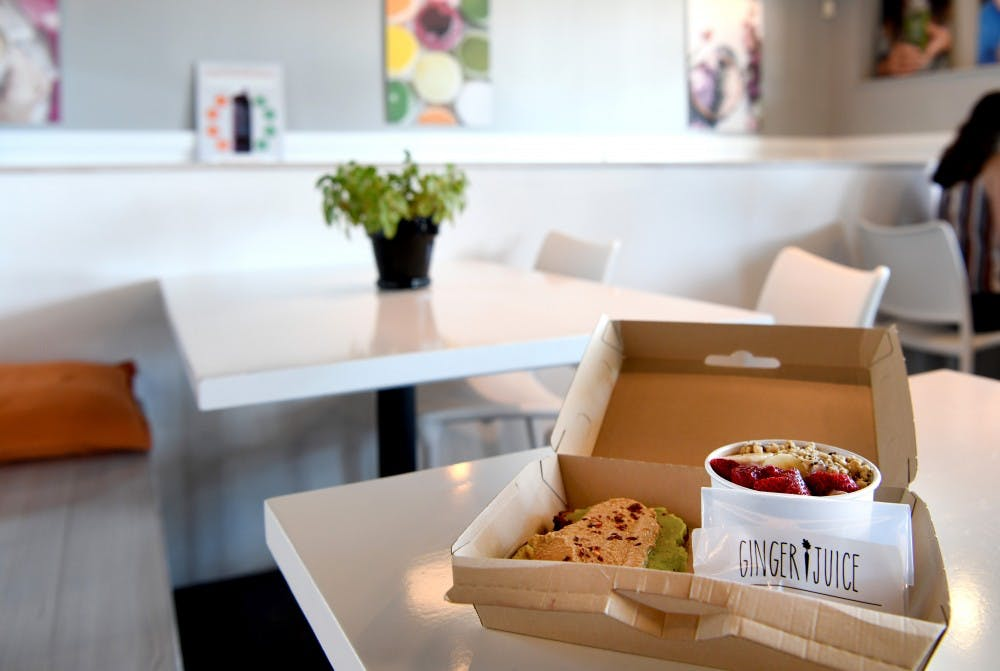 <p>The new energy box offered by Ginger Juice allows customers to pick any two items for $12, including toast, bagels, soup, bowls and salads. It also comes with a peanut butter energy bite.&nbsp;</p>