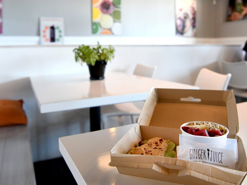 The new energy box offered by Ginger Juice allows customers to pick any two items for $12, including toast, bagels, soup, bowls and salads. It also comes with a peanut butter energy bite.
