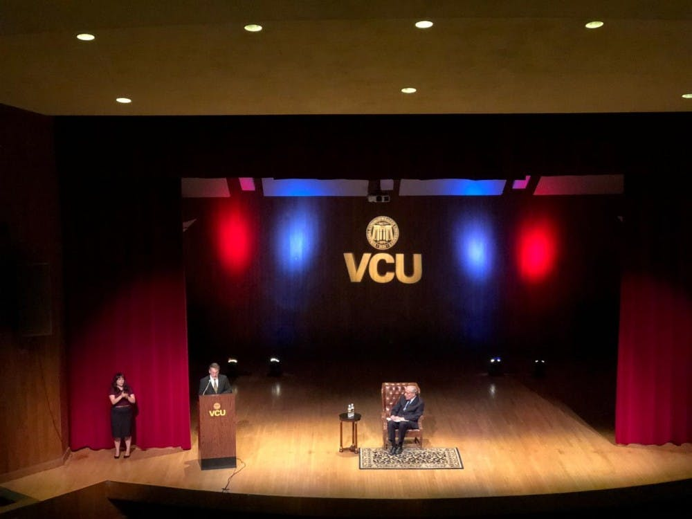 Bob Woodward spoke to a packed audience at Virginia Commonwealth University about Watergate, the Trump Administration and the value of investigative journalism on Tuesday, Sept. 25.