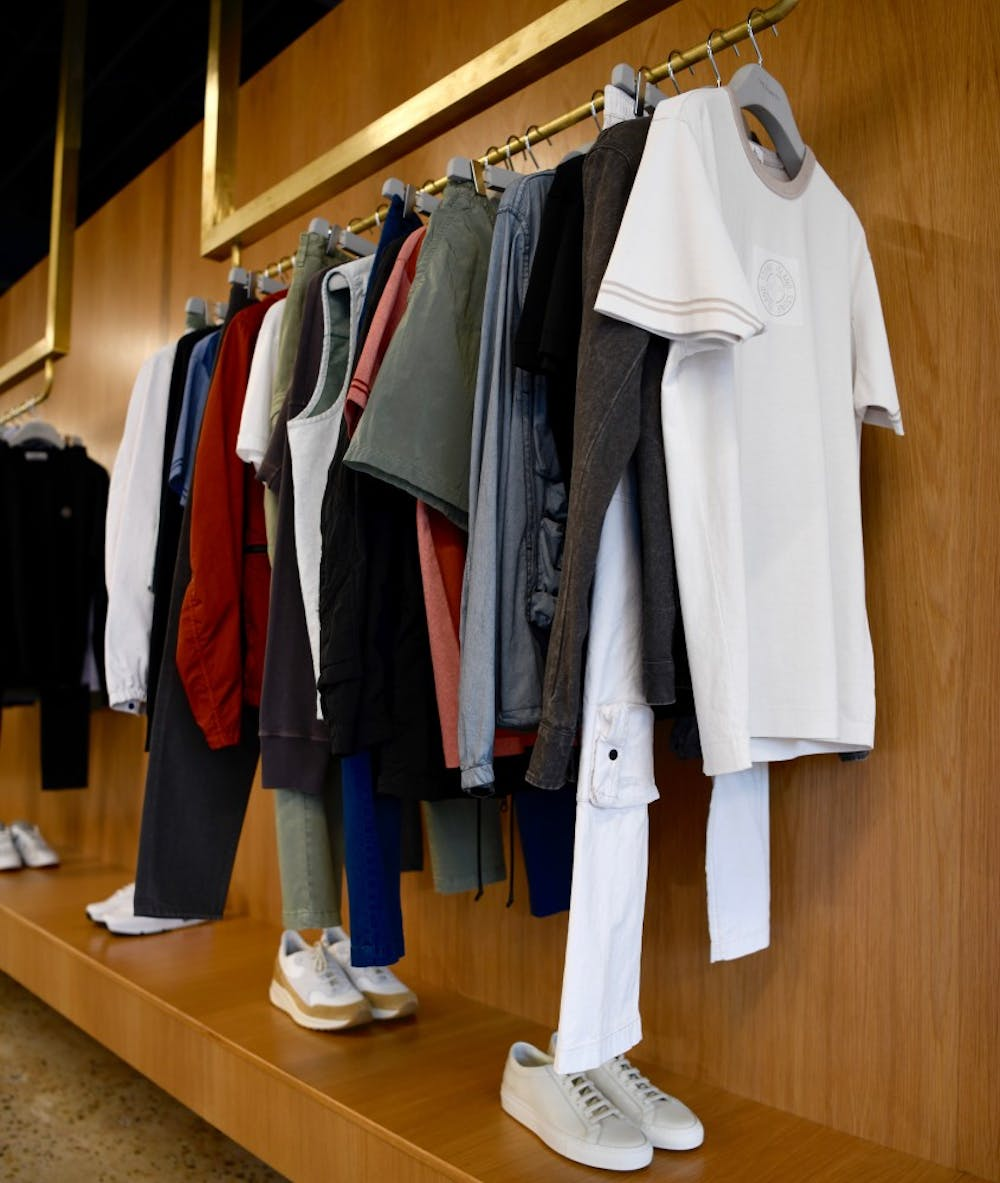 <p>One of the clothing displays inside the Need Supply Co. store.&nbsp;</p>