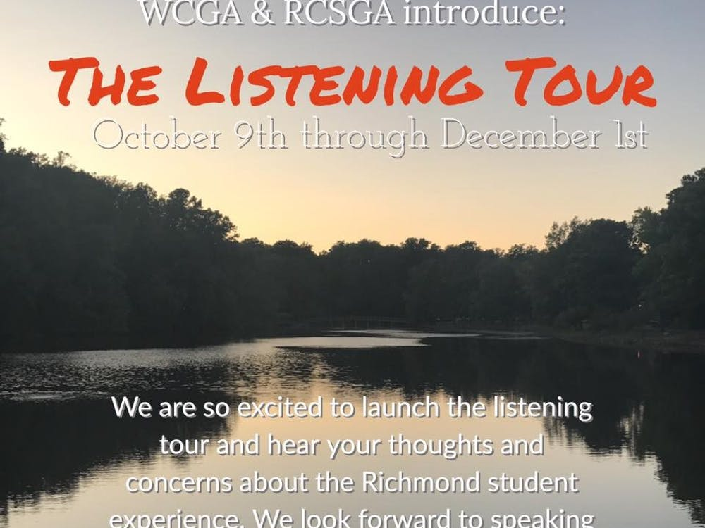 WCGA and RCSGA members hope to meet with every student on campus through their newest initiative, the Listening Tour. Photo courtesy of WCGA's Facebook page.