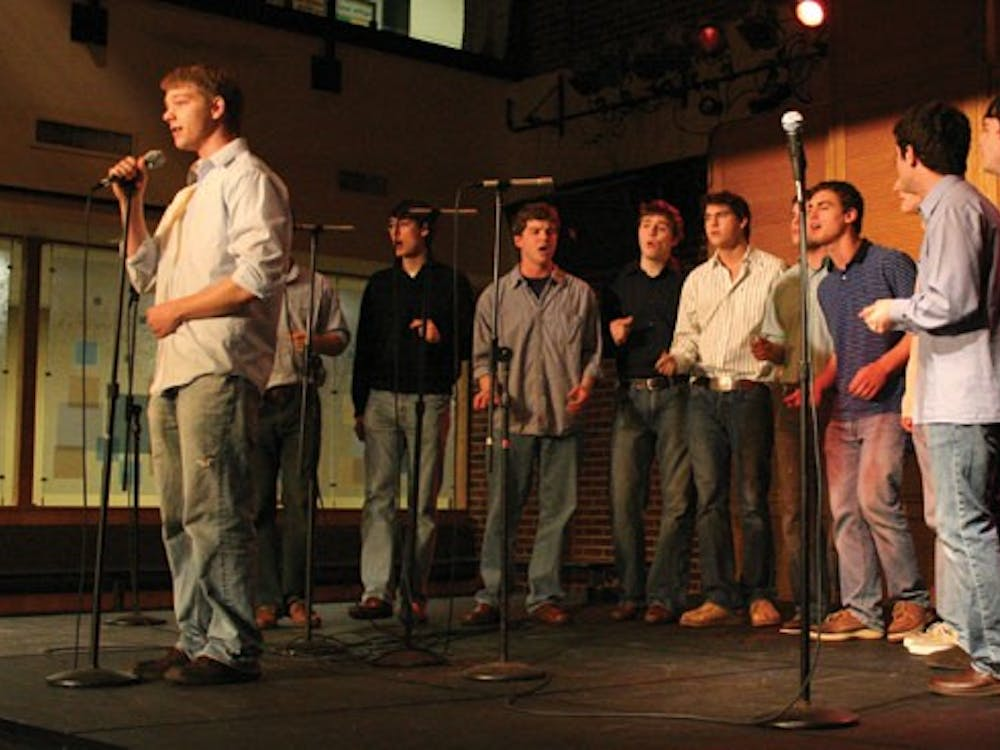The Octaves performed Tuesday night in the Commons as part of a campaign to raise awareness for Camp Kesem, a nonprofit organization dedicated to helping children whose parents have cancer or have had cancer.