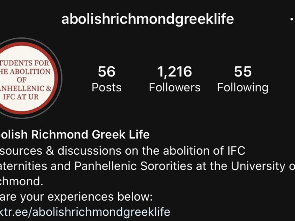 Screenshot of the account, @abolishrichmondgreeklife, on Instagram.
