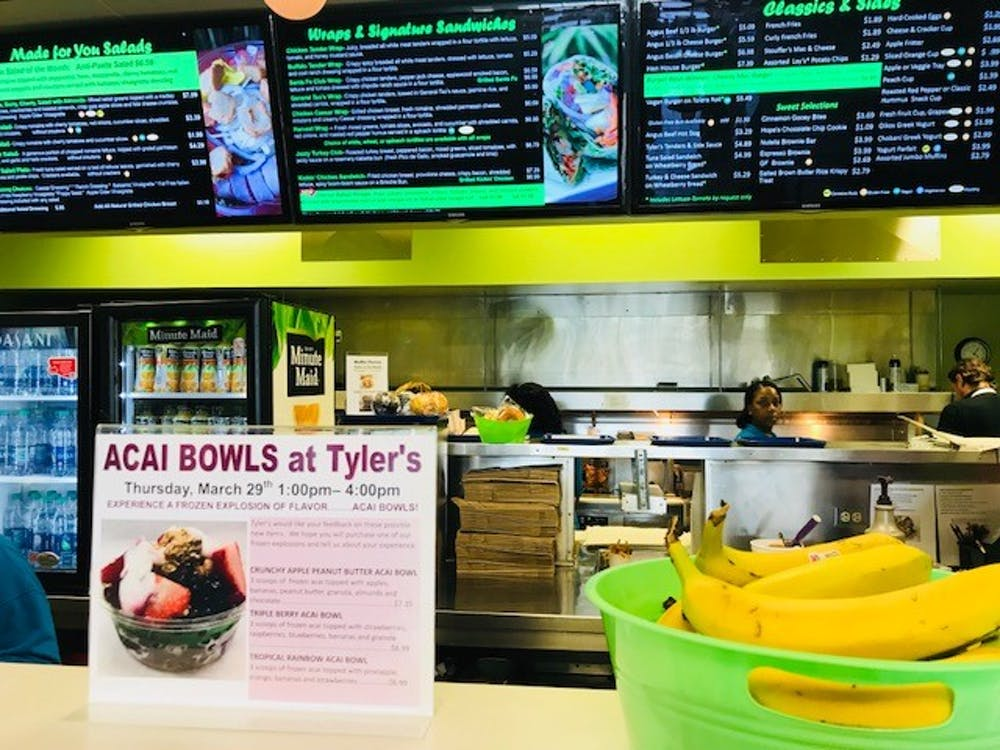 Tyler's Grill, a dining location on campus known for its burgers, wraps and smoothies, temporarily added açaí bowls to its menu as possible new items last week.