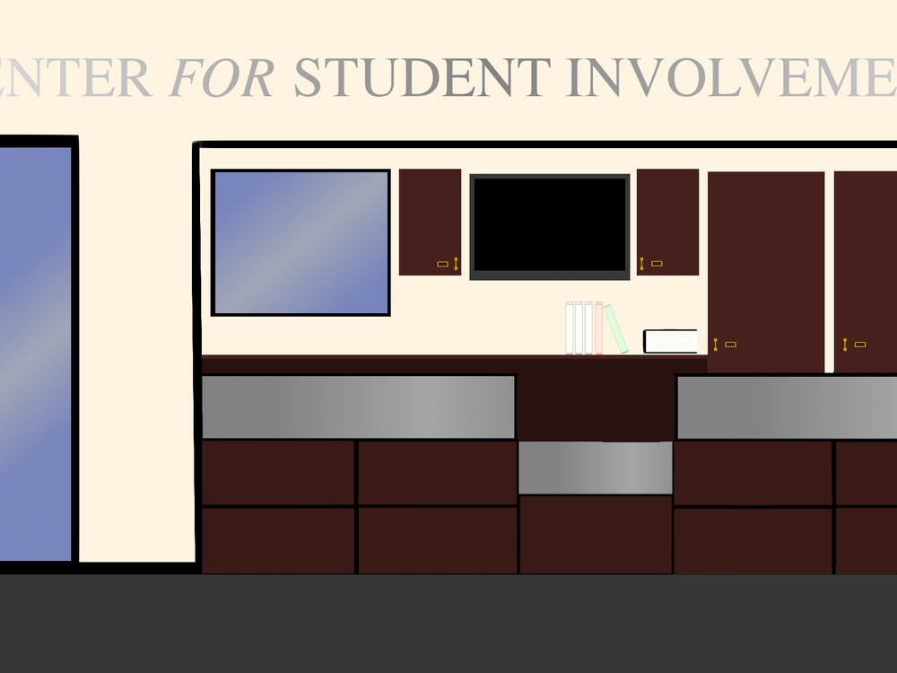 Graphic of the University of Richmond's Center for Student Involvement by Nolan Sykes