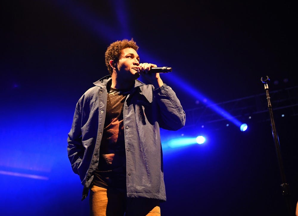<p>Bryce Vine sings at the 2019 Spring Concert.</p>